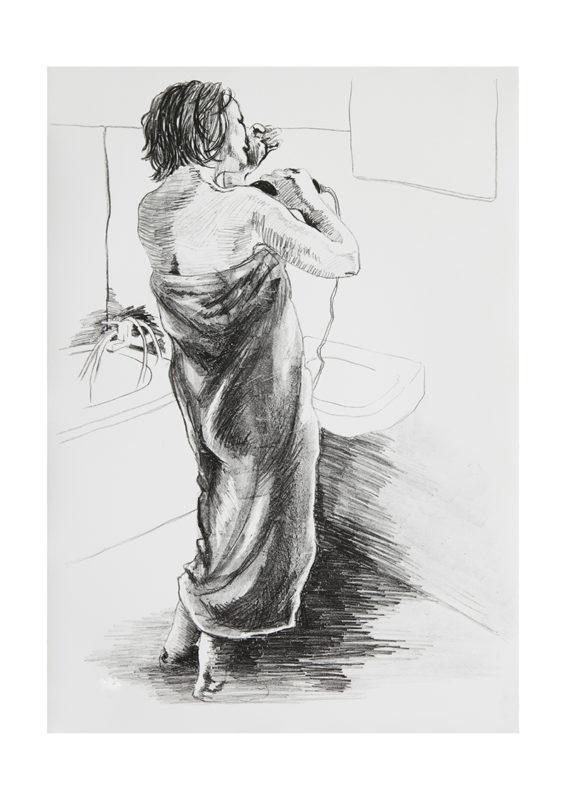 KATHRIN EDWARDS-Kathrin Edwards Die Badenden III Lithografie auf Büttenpapier 42x594cm 2017 566x800