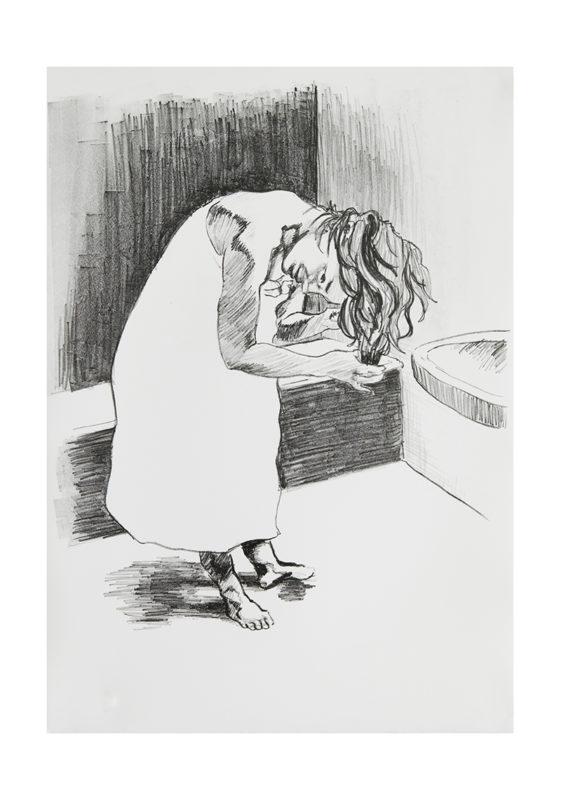 KATHRIN EDWARDS-Kathrin Edwards Die Badenden II Lithografie auf Büttenpapier 42x594cm 2017 561x800